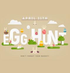 Egg hunt banner vector