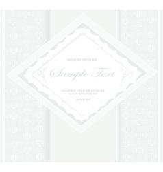 elegant vintage frame card vector image