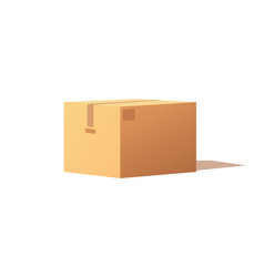 empty closed box mockup post container for goods vector image