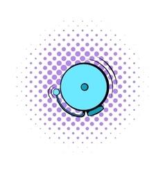 Fire alarm icon comics style vector image