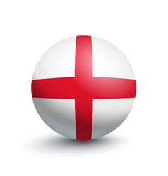 flag of england in the form of a ball vector image