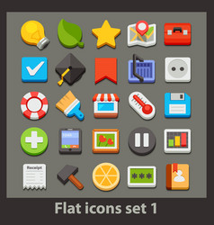 Flat icon-set 1 vector