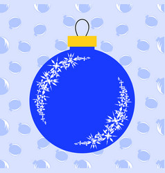 Flat insulated blue christmas toy in the form of vector