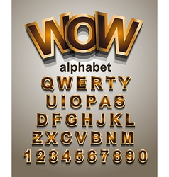 funny colorful alphabet font to use for children vector image