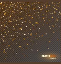 golden confetti glitters festive falling shiny vector image