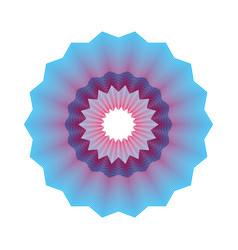 Guilloche pattern rosette for play money or othe vector