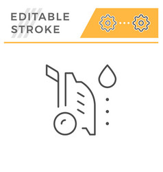 high pressure washer editable stroke line icon vector image