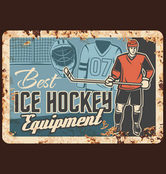 ice hockey clothing and equipment store banner vector image