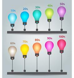 infographics chart vector image