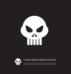 Isolated skeleton icon head element can be vector