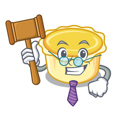 Judge egg tart mascot cartoon vector