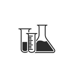 laboratory equipment icon flasks vector image