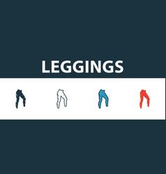 Leggings icon set premium symbol in different vector