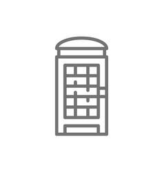 london phone booth english call box line icon vector image