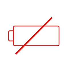 Low battery icon vector