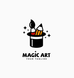magic art logo vector image
