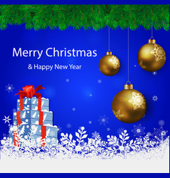 merry christmas beige background blur vector image