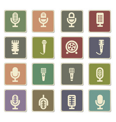Microphone icon set vector
