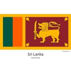 National flag sri lanka with correct vector