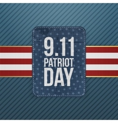Patriot Day festive paper Emblem vector
