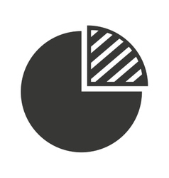 pie graph isolated icon design vector image