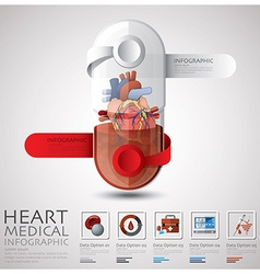Pill Capsule Heart Health And Medical Infographic vector