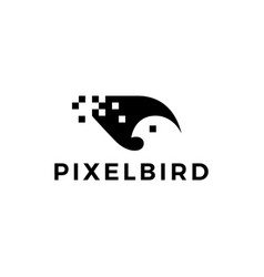 pixel bird logo icon vector image