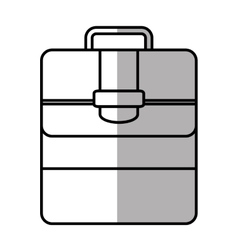 Portfolio suitcase travel business line shadow vector