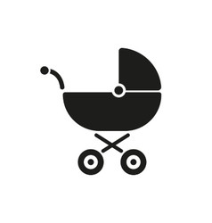 Pram icon Baby buggy design Baby carriage vector image