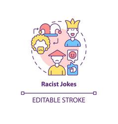 Racist jokes concept icon vector