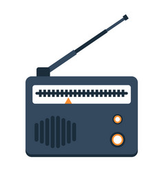 Radio flat icon fm and communication vector