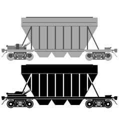 Railway carriage for bulk cargo-1 vector