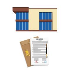 Rental agreement concept rental agreement keys vector