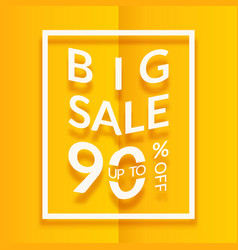 sale poster or flyer design paper words on yellow vector image