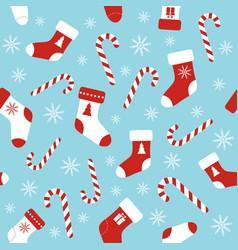 seamless pattern with christmas socks vector image