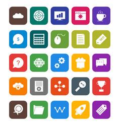 seo optimization and marketing icons set vector image