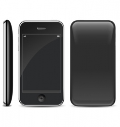 smart phone on white vector image