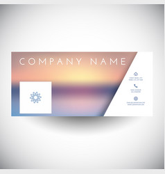 Social media cover with blurred landscape design vector