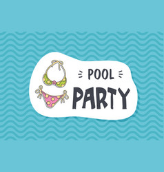 summer poster card pool party vector image