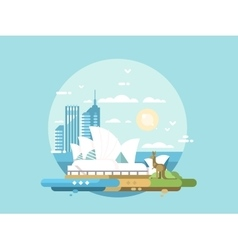 Sydney city flat design vector