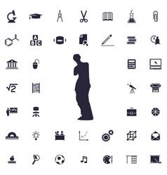 Venus de milo icon vector
