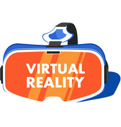 Vr headset device in flat style vector