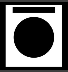 Washing machine it is the white color icon vector