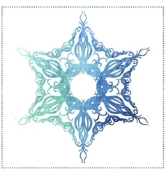 Watercolor snowflake vector