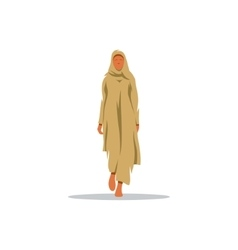 Young Arab woman in traditional dress sign vector image