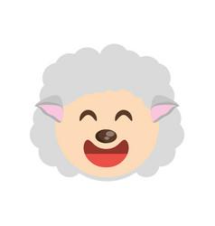 cute face sheep animal cheerful vector image