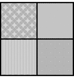 Monochrome seamless patterns vector image