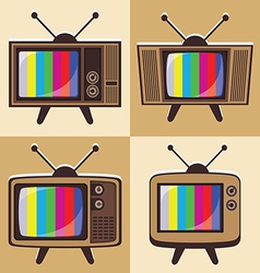 set of classic television 2 vector image vector image