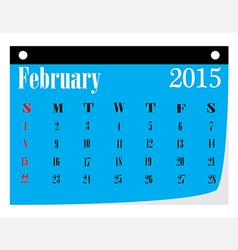 Calendar February 2015 vector image