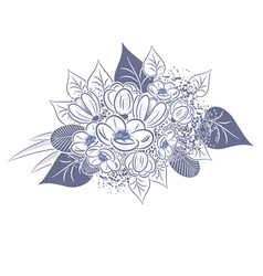 composition of flowers and leaves vector image